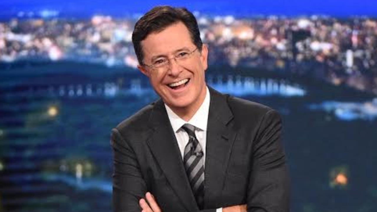Stephen Colbert on the set of The Late Show. Picture: CBS