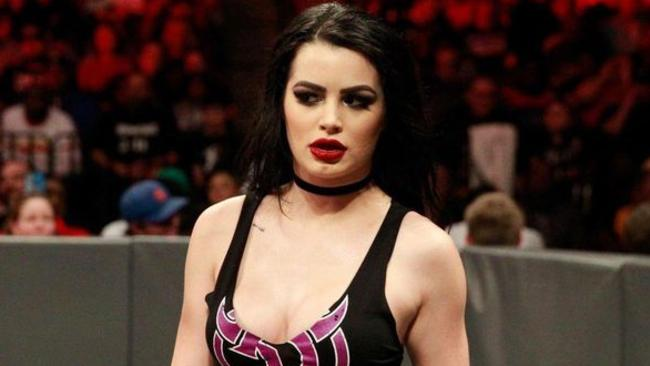 Paige on WWE Raw this month. Picture: WWE.