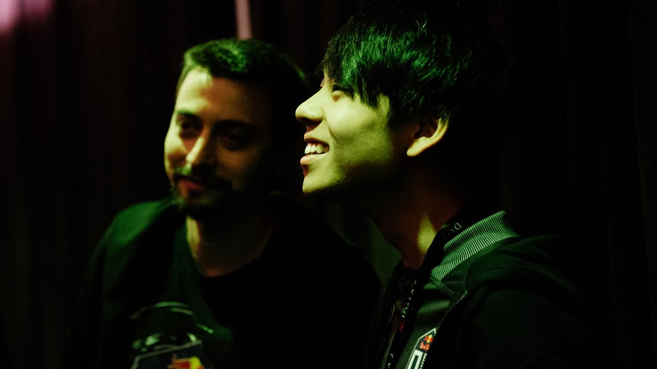 18-year-old Aussie Anathan 'ana' Pham backstage after a win for his team, OG, at The International. OG won the richest tournament in esports history, despite being major underdogs. Photo via Valve.