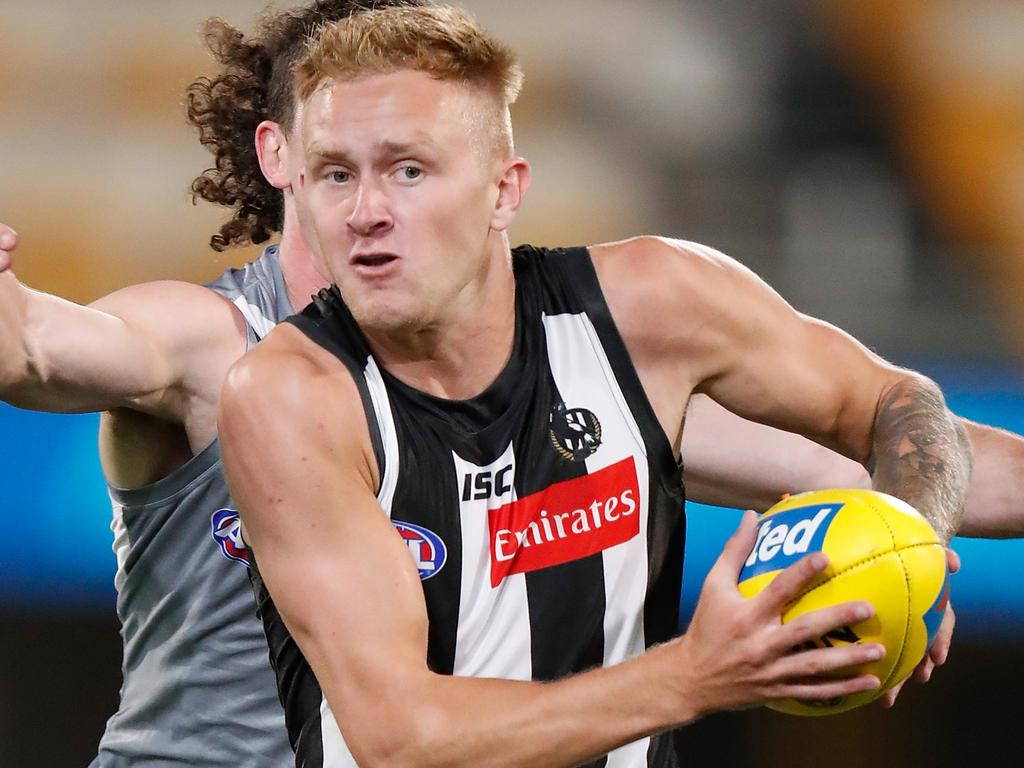 Stephenson played three seasons with the Magpies before joining the Kangaroos this year. (Photo by Michael Willson/AFL Photos via Getty Images)