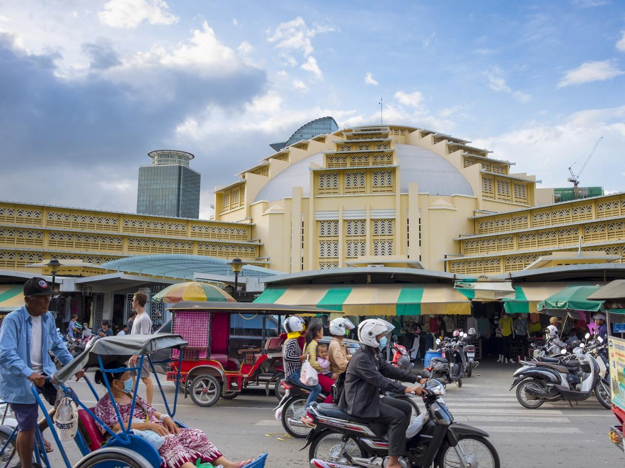 Central Market In Phnom Penh, Cambodia