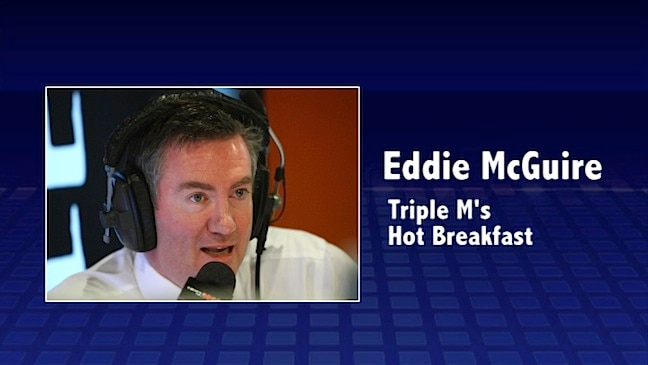 Eddie tears up on radio