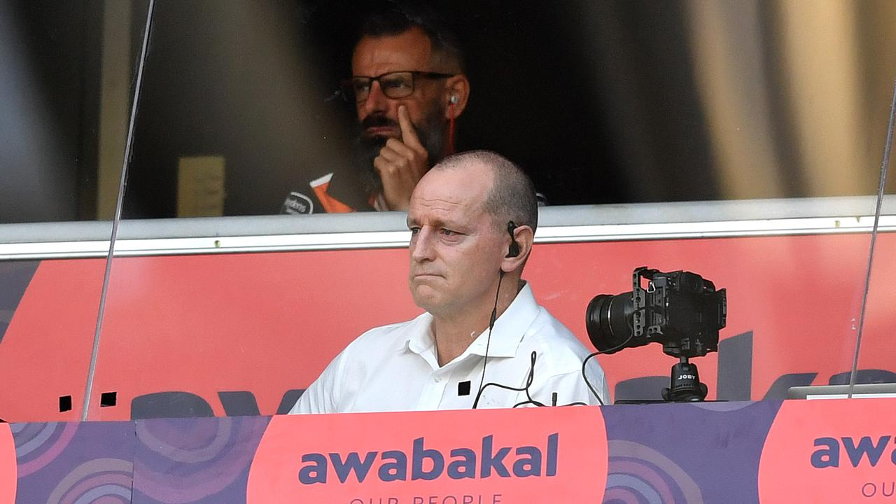 Wests Tigers allowed cameras to film in the coaches box for the match against Parramatta. Picture: NRL Photos/Gregg Porteous