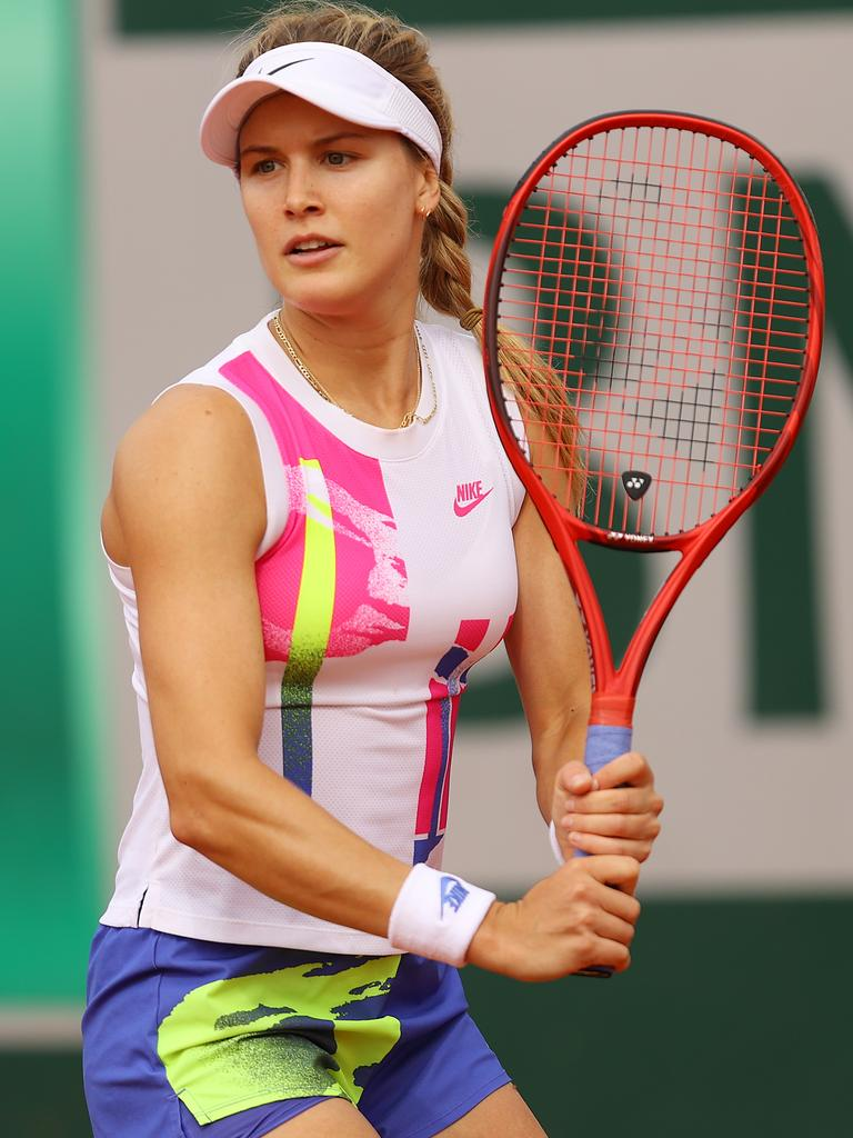 Bouchard has lost the famous Nike swoosh