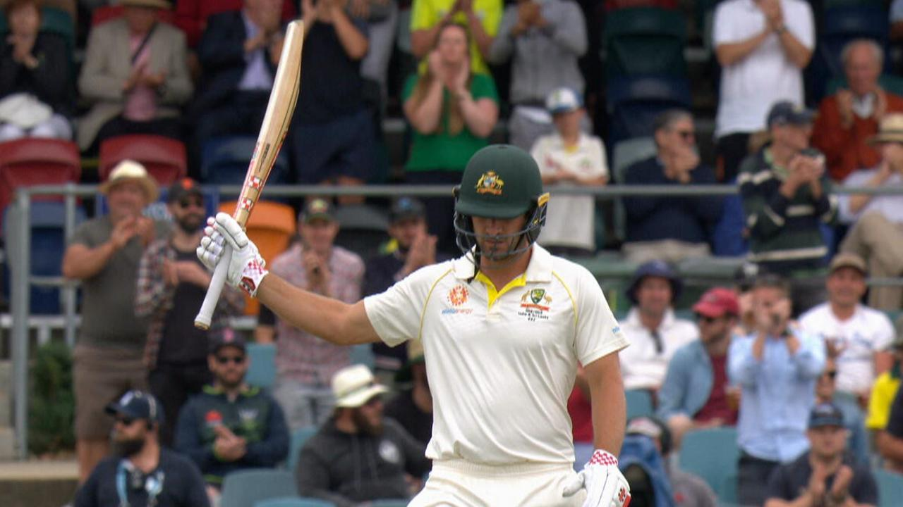 Joe Burns top scored for Australia on day one with a career best 172*.