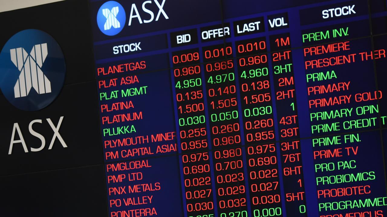The Australian share market lost $60 billion. Picture: AAP Image/Dean Lewins