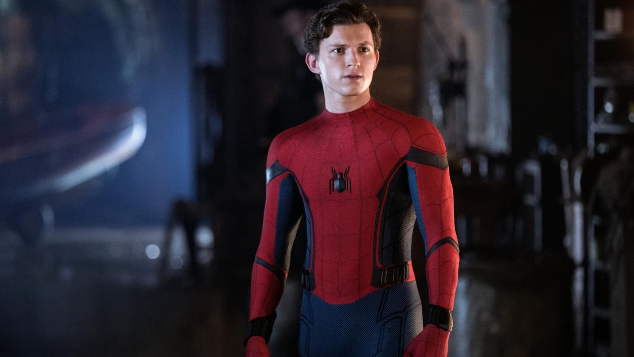 Tom Holland as Spider-Man in Spider-Man: Far From Home.