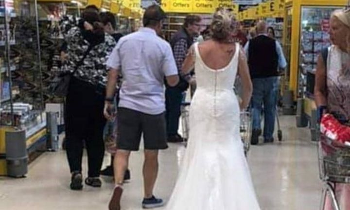 Bride gets 'her money's worth' from wedding dress