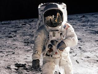 (FILES) In this file photo taken on July 20, 1969 astronaut Buzz Aldrin, lunar module pilot, walks on the surface of the moon during the Apollo 11 extravehicular activity (EVA). - On July 21, 1969, US astronaut Neil Armstrong is the first man to step onto the Moon, his teammate Edwin Aldrin joining him around 20 minutes later. Between 1969 and 1972, 12 astronauts -- all American -- walked on the Moon as part of NASA's Apollo program. (Photo by - / NASA / AFP)
