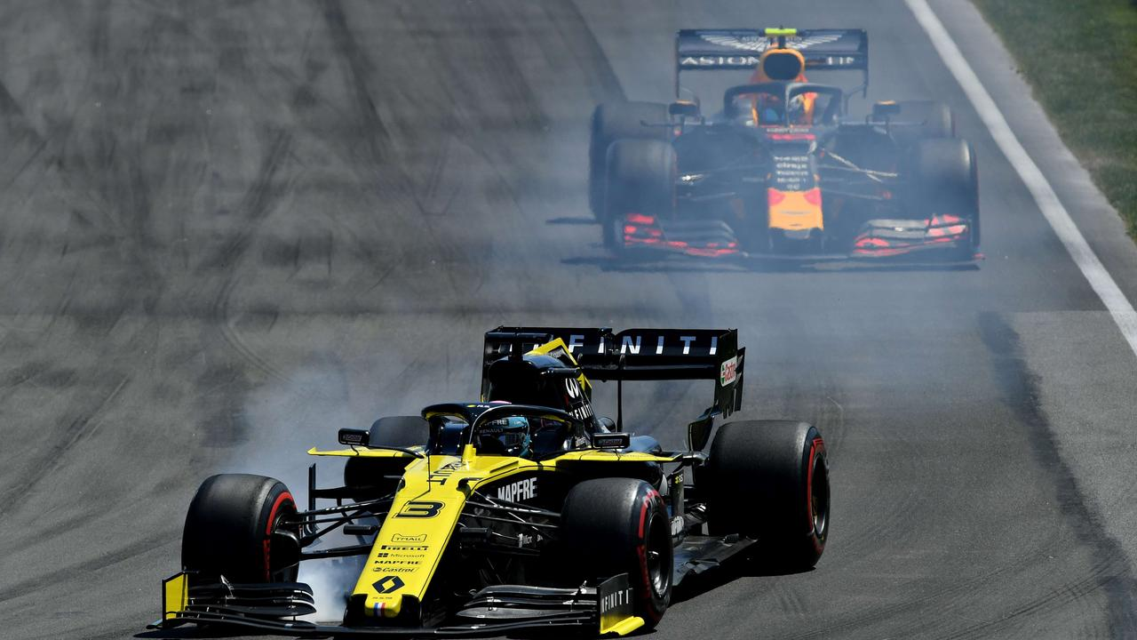 Daniel Ricciardo managed to keep the Red Bull of Pierre Gasly behind him for the whole of the race.