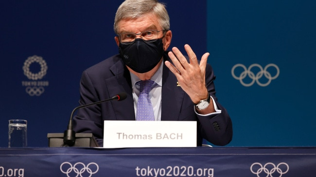 IOC President Thomas Bach said the cancellation of the Olympics was never an option. Photo by Toru Hanai/Getty Images