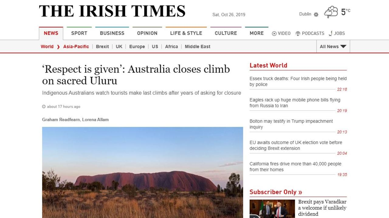 A piece published on The Irish Times.