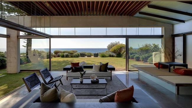 The home has lots of open space and great views.