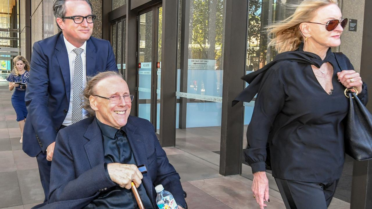 Songwriter Harry Vanda leaves the Federal Court in Sydney. Picture: Peter Rae/AAP