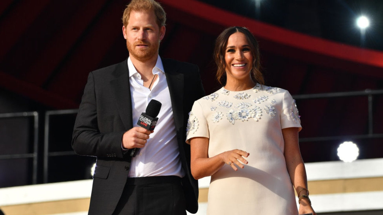 Prince Harry and Meghan Markle at Global Citizen Live. Picture: Getty