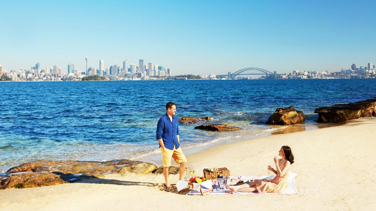 The magnificent view from Shark Island. Picture: Supplied
