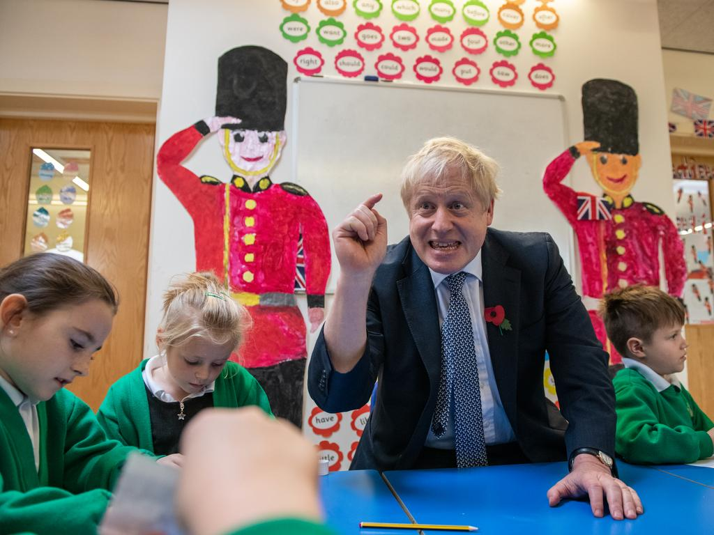 Colourful UK PM Boris Johnson is seen as the frontrunner in the coming election. Picture: Chris J Ratcliffe/WPA/Getty