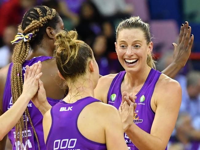 Laura Geitz celebrates the win. Picture: AAP