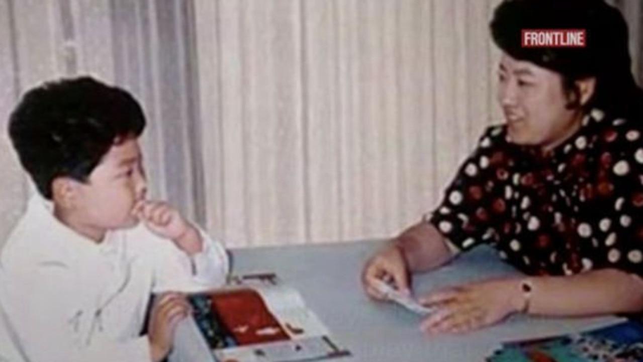Kim Jong-un as a child. Picture: PBS/Frontline