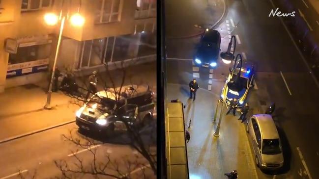 Police respond to a shooting spree in German town of Hanau