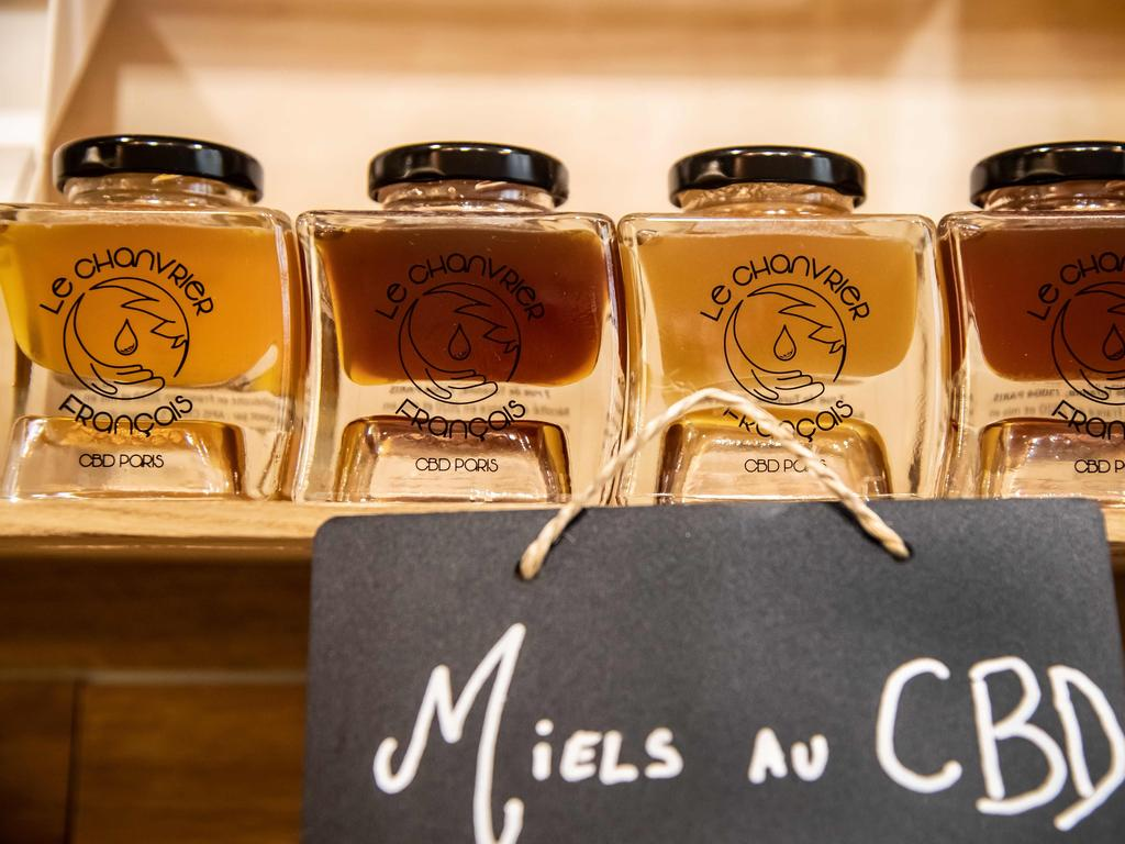 CBD infused honey for sale at a store in France. Picture: Bertrand Guay / AFP
