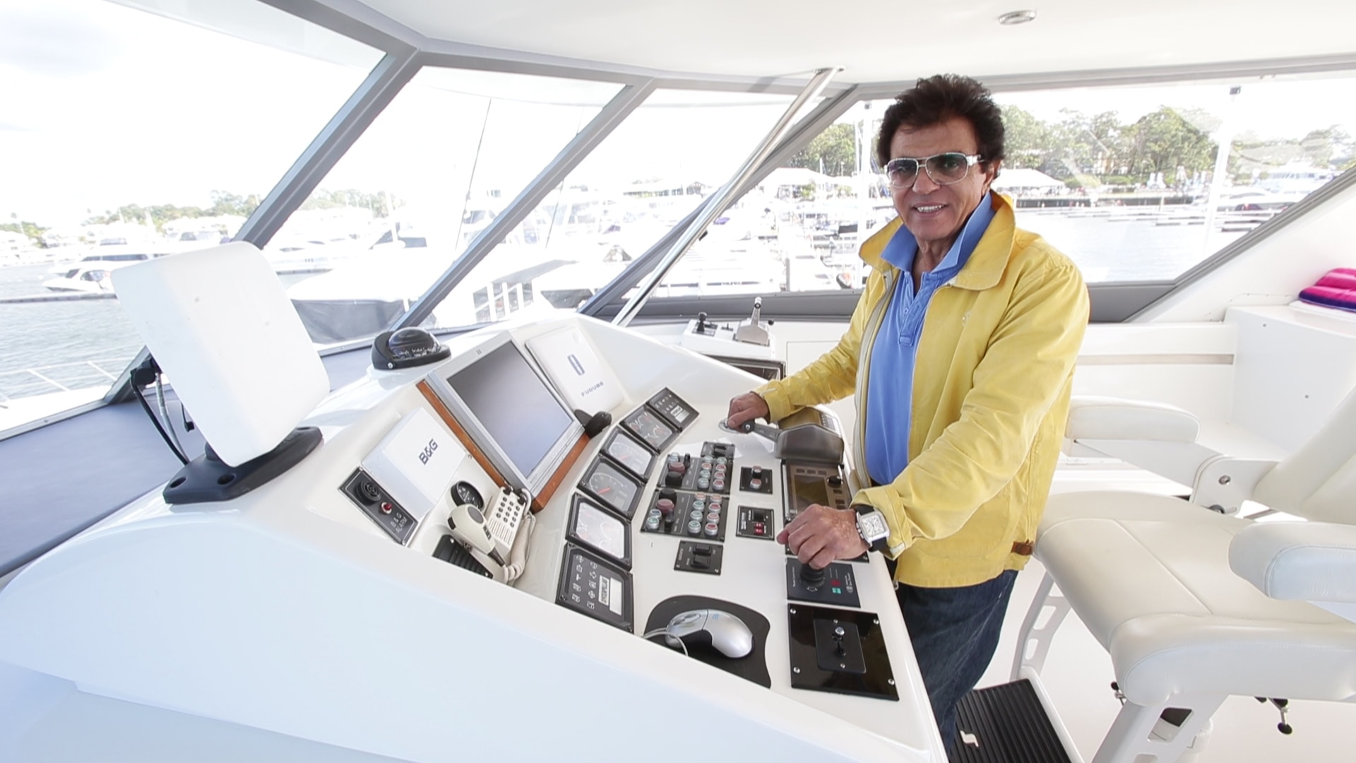 Cruisey life: Stefan Ackerie aboard his new super-yacht