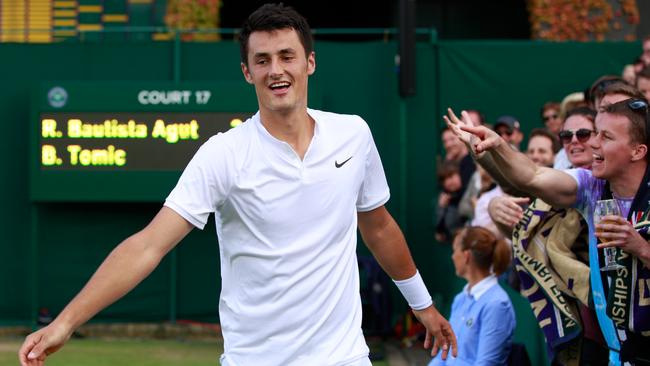 Bernard Tomic has stormed into the fourth round at Wimbledon.