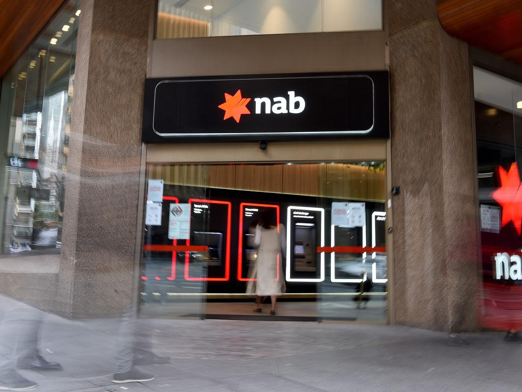 SYDNEY, AUSTRALIA - NCA NewsWire Photos AUGUST, 12, 2020: Generic view of a National Australian Bank (NAB) in Sydney. Picture: NCA NewsWire/Bianca De Marchi