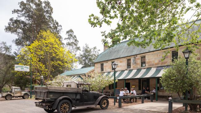 The Settlers Arm Inn established in 1836 using convict-hewn sandstone.