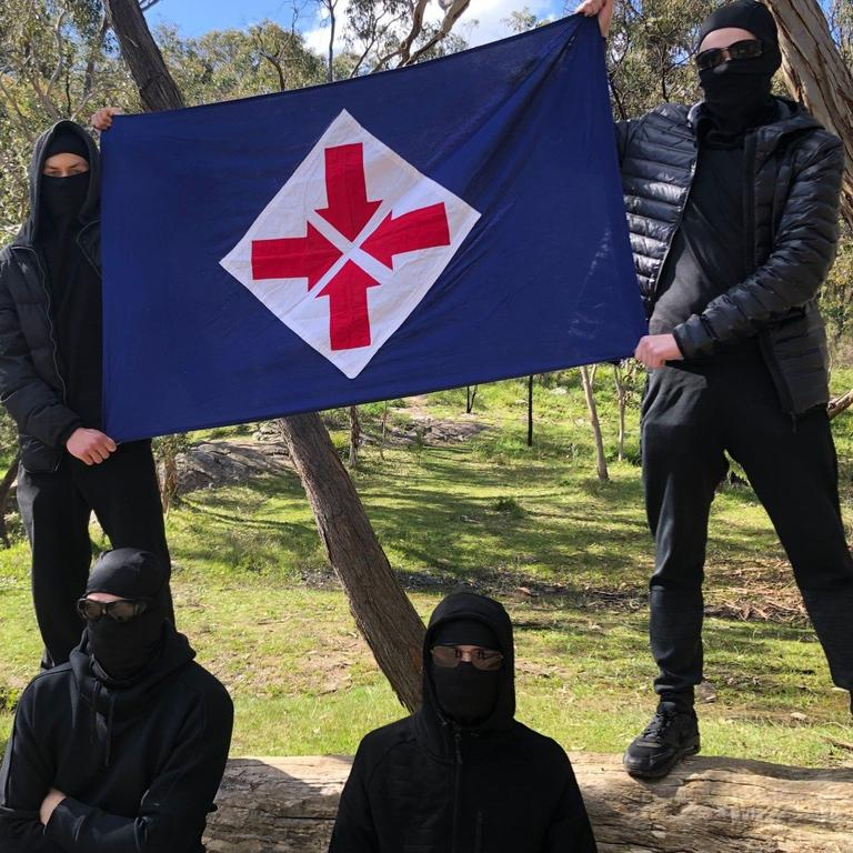 Some of the National Socialist Network's Adelaide members.