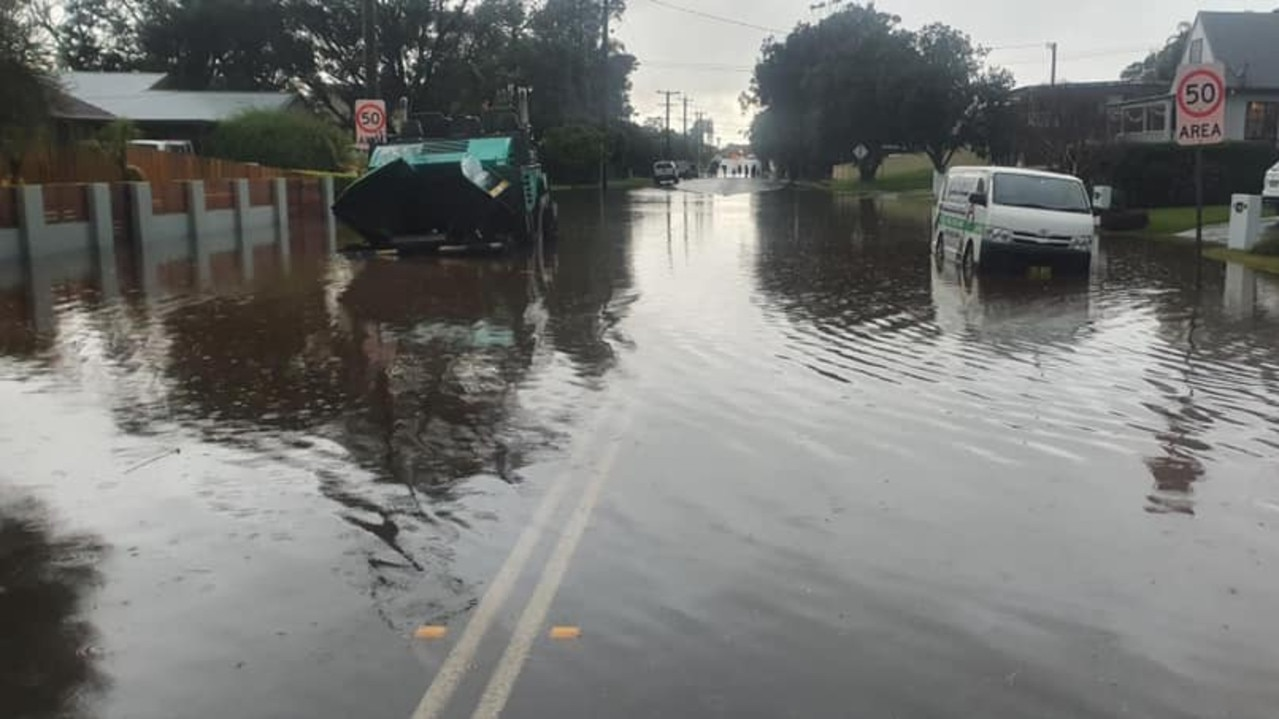 SES workers captured this image of flooding in Gerringong on Saturday.