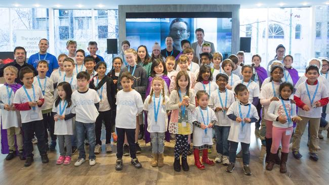Kids who took part in the experience day at HP