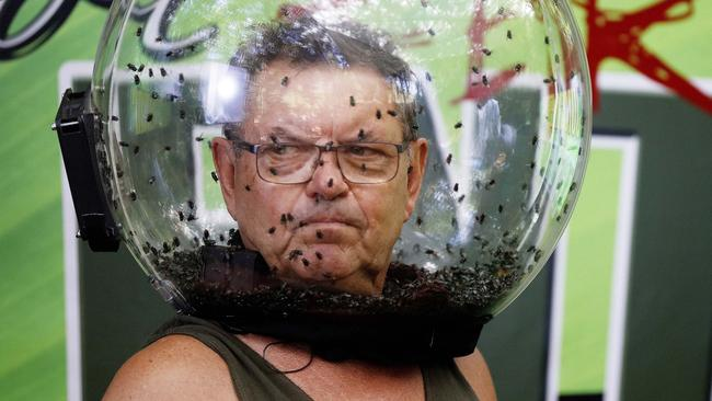 Steve Price during a Tucker Trial on I'm A Celeb. Picture: Nigel Wright