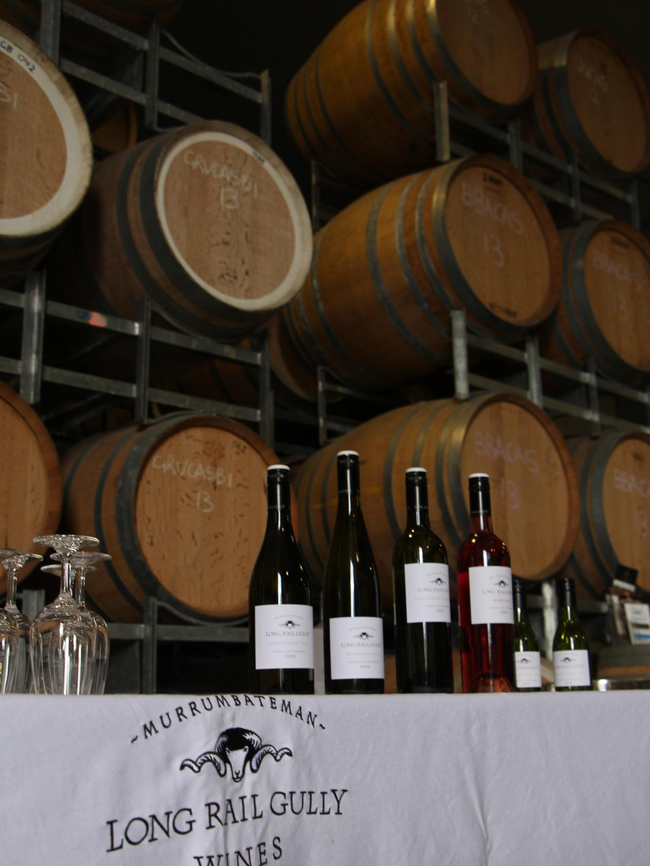 Supplied Travel Canberra wine, Canberra. Bottles ready for tasting in the winery at Long Rail Gully Wines in the