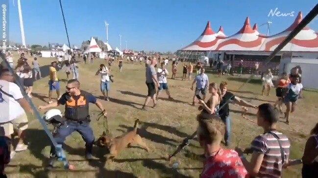 Crazy scenes at cancelled Belgium music festival