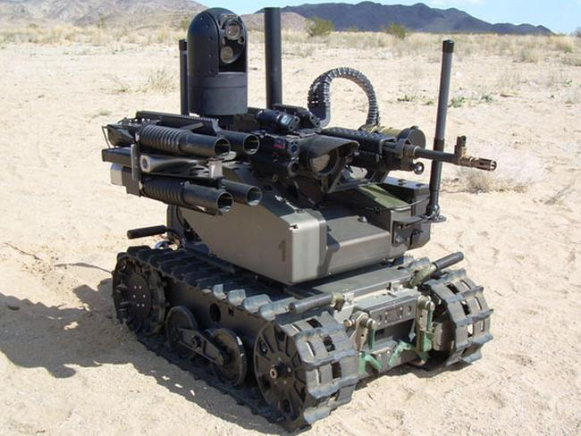 Future soldier? The Modular Advanced Armed Robotic System (MAARS) is a DARPA experiment into remote-controlled robotic weaponry. Artificial intelligence is a logical next step. Source: DARPA