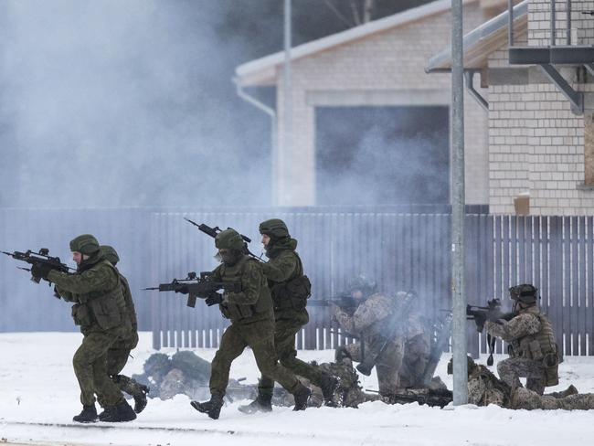Soldiers take part in the NATO military exercise 'Iron Sword 2016' in Lithuania. Moscow has adopted an increasingly aggressive tone towards Eastern European states. Picture: AP