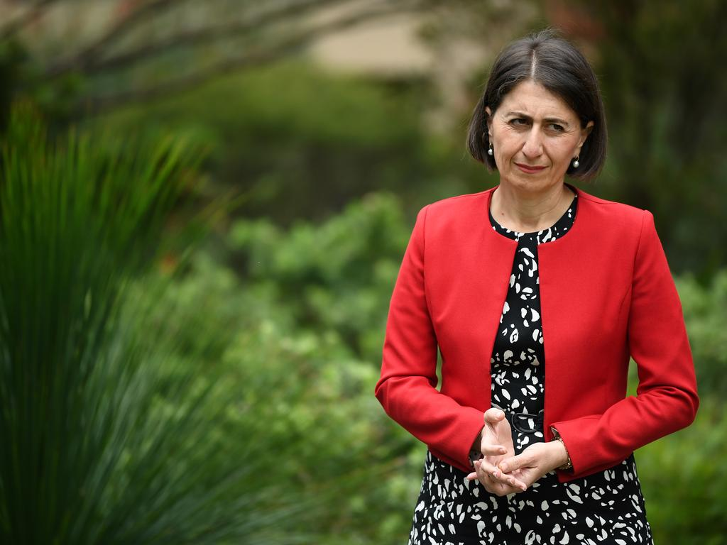 NSW Premier Gladys Berejiklian said health authorities were investigating how a hotel quarantine worker contracted COVID-19. Picture: NCA NewsWire/Joel Carrett