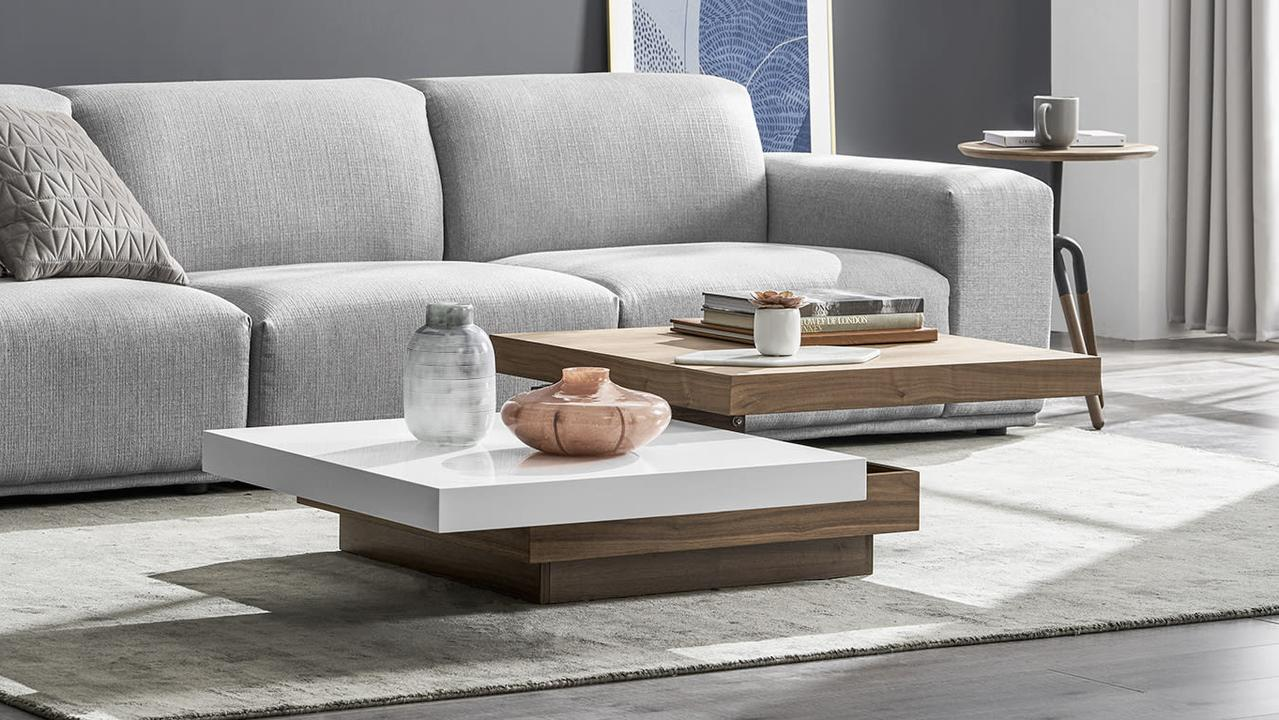 Maximise storage space with these chic coffee tables. Image: Castlery.