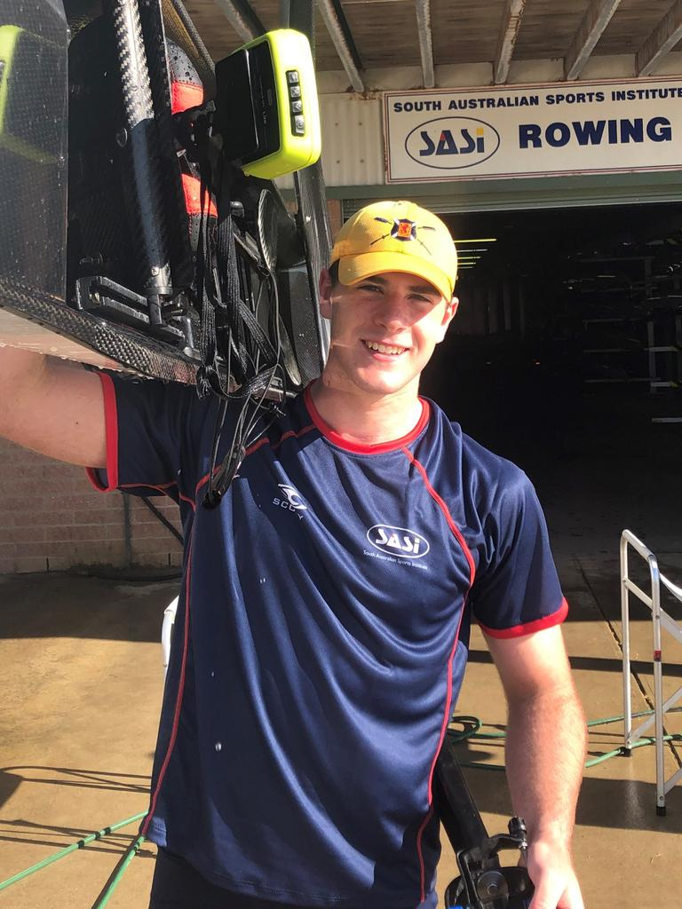 Scotch College rower Adam Holland. Picture: Supplied, Rowing SA