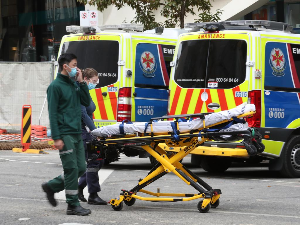 It was taking an average of about 50 minutes for people to be offloaded from their stretcher after arriving at hospital, a 20-minute increase from late 2019. Picture: NCA NewsWire / David Crosling