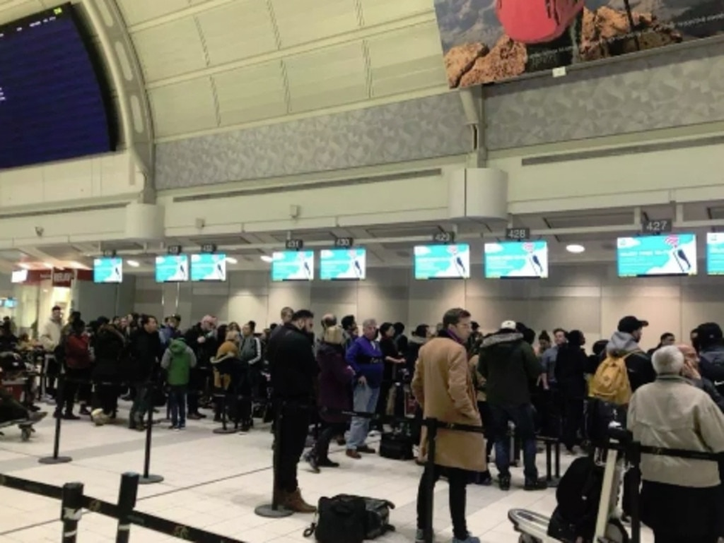 Thousands of passengers have been impacted by the sudden shutdown. Picture: Twitter