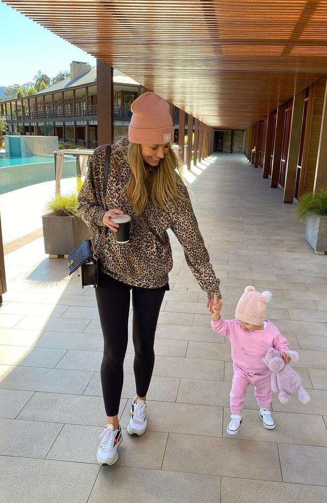 Jen dotes on her young daughter. Picture: Instagram