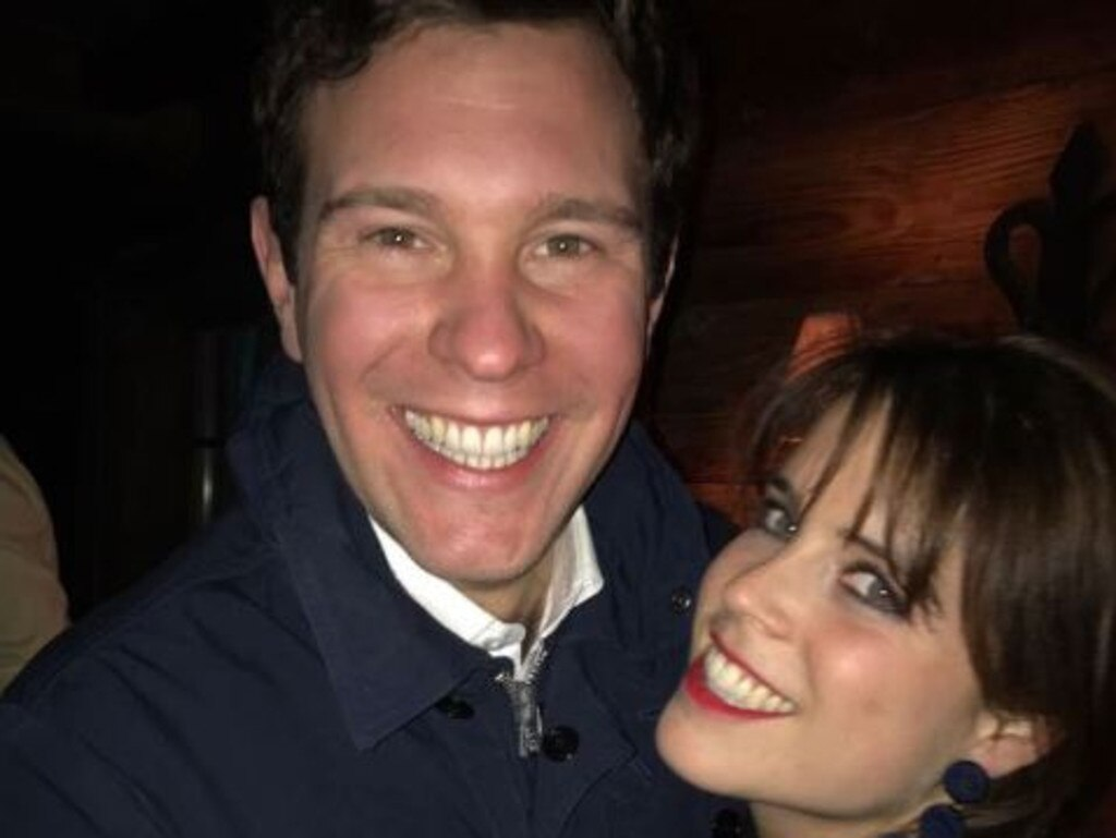 Princess Eugenie and fiance Jack Brooksbank. Picture: Twitter