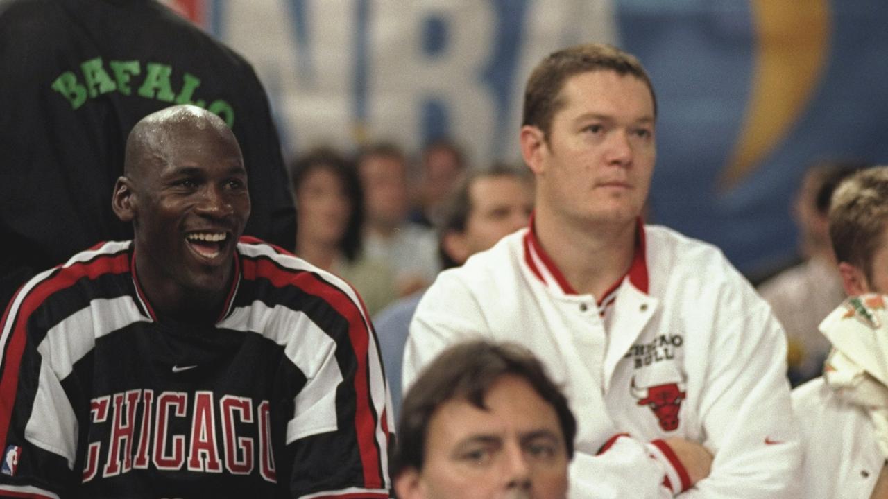 Luc Longley has opened up before on playing with Michael Jordan. Credit: John Gichigi /Allsport