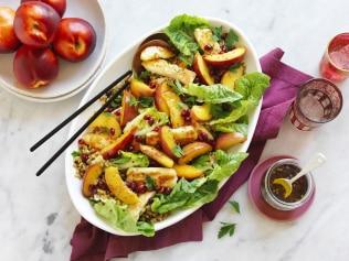 freekeh haloumi nectarine salad