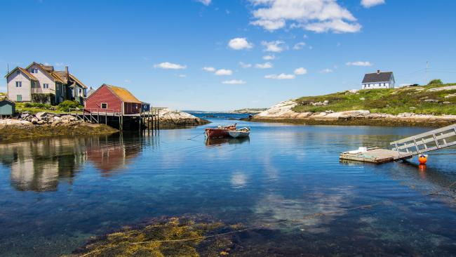 Peggy's Cove, Nova Scotia, is a great place to eat fish and lobster fresh from the sea. Source: Destination Canada.