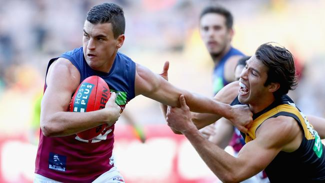 Tom Rockliff is at an impasse with the Brisbane Lions over his contract.