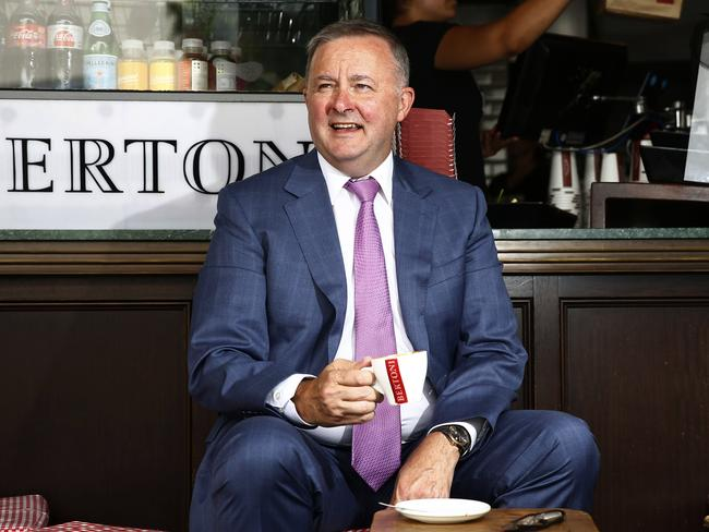 Albo is masterful in his image, cleverly playing the 'daggy dad', but also pitching himself as the 'sensible centre' option for Aussies. Picture: John Appleyard