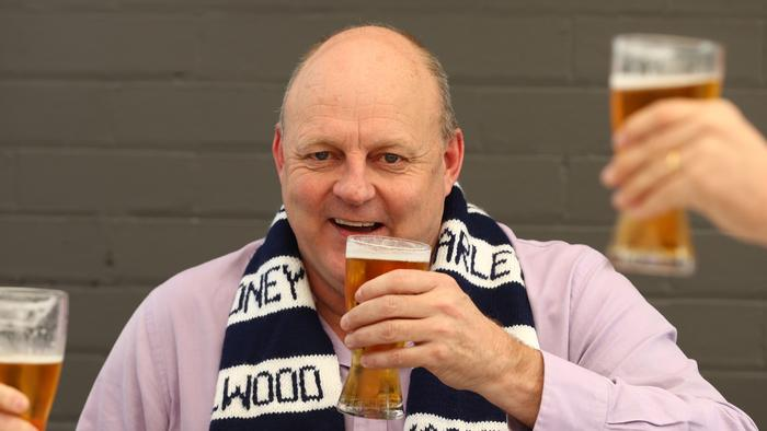 GEELONG, AUSTRALIA - OCTOBER 21: Former Geelong footballer Billy Brownless is seen at his pub on October 21, 2020 in Geelong, Australia. The Geelong Cats take on Richmond Tigers in the AFL Grand Final on Saturday 24 October at the Gabba in Brisbane. It is the first time the AFL Grand Final has been played outside of the MCG due to COVID-19 restrictions.. Coronavirus restrictions eased further in Victoria as of 11:59 on Sunday 18 October, with regional Victoria's Third Step restrictions lifted slightly to allow up to two visitors at home and increased limits on numbers at cafes and restaurants. Metropolitan Melbourne is under Second Step restrictions, with residents are now able to travel up to 25km from their homes, and no limits on the time people spend outside their homes exercising. People must continue to stay at home unless for the four permitted reasons – to shop for food and other necessary goods; for care or compassionate reasons; for work or education; for exercise or social interaction, and from Monday, people can also now go to the hairdresser. Up to 10 people from two households can also now meet outdoors, while tennis, golf, bocce and skate parks are now able to open. (Photo by Robert Cianflone/Getty Images)